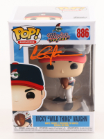 "Charlie Sheen Signed ""Major League"" #886 Ricky ""Wild Thing"" Vaughn Funko Pop! Vinyl Figure (JSA COA) at PristineAuction.com"