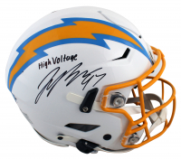 """Joey Bosa Signed Chargers Full-Size Authentic On-Field SpeedFlex Helmet Inscribed """"High Voltage"""" (Beckett Hologram) at PristineAuction.com"""