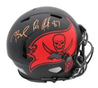 Tom Brady & Rob Gronkowski Signed Buccaneers Full-Size Authentic On-Field Eclipse Alternate Speed Helmet (Fanatics Hologram & Radtke COA) at PristineAuction.com