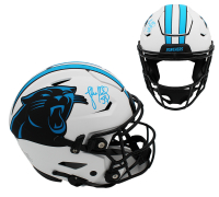 Luke Kuechly Signed Panthers Full-Size Authentic On-Field Lunar Eclipse Alternate SpeedFlex Helmet (Radtke COA) at PristineAuction.com