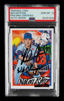 """Nolan Ryan Signed 2020 Topps Project 2020 #105 Inscribed """"WS Champs"""" (PSA Encapsulated) at PristineAuction.com"""