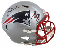 Ty Law & Rodney Harrison Signed Patriots Full-Size Speed Helmet (Beckett Hologram) at PristineAuction.com