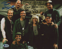 """Mike Farrell Signed """"MASH"""" 8x10 Photo Inscribed """"Peace!"""" (Beckett COA) (See Description) at PristineAuction.com"""