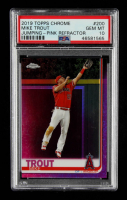 Mike Trout 2019 Topps Chrome Pink Refractors #200 (PSA 10) at PristineAuction.com