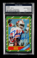 Jerry Rice Signed 1986 Topps #161 RC Reprint (PSA Encapsulated) at PristineAuction.com