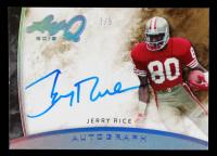 Jerry Rice 2015 Leaf Q Autographs Silver Spectrum #AJR1 #3/5 at PristineAuction.com