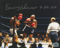 """Earnie Shavers Signed 8x10 Photo Inscribed """"9-29-77"""" (Shavers Hologram) at PristineAuction.com"""
