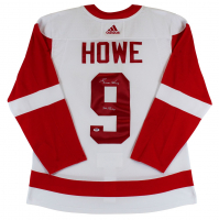 """Gordie Howe Signed Red Wings Jersey Inscribed """"Mr. Hockey"""" (PSA COA) at PristineAuction.com"""