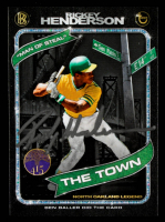 Rickey Henderson Signed 2020 Topps Project 2020 #71 / Ben Baller (Schwartz COA) at PristineAuction.com