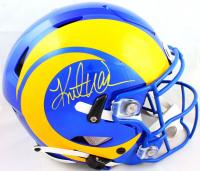 Kurt Warner Signed Rams Full-Size Authentic On-Field SpeedFlex Helmet (Beckett Hologram) at PristineAuction.com
