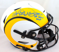 "Kurt Warner Signed Rams Full-Size Lunar Eclipse Alternate Authentic On-Field SpeedFlex Helmet Inscribed ""HOF 17"" & ""SB XXXIV MVP"" (Beckett Hologram) at PristineAuction.com"