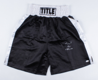 """""""Terrible"""" Tim Witherspoon Signed Boxing Trunks (JSA COA) at PristineAuction.com"""