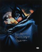 "Val Kilmer Signed ""Batman"" 16x20 Photo Inscribed ""Bruce Wayne"" & ""Batman"" (PSA Hologram) (See Description) at PristineAuction.com"
