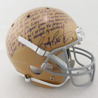 Rudy Ruettiger Signed Notre Dame Fighting Irish Full-Size Helmet with Extensive Inscription (Ruettiger Hologram) at PristineAuction.com