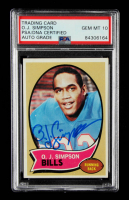 O. J. Simpson Signed 1970 Topps #90 RC (PSA Encapsulated) at PristineAuction.com