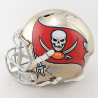 """Jordan Whitehead Signed Buccaneers Full-Size Chrome Speed Helmet Inscribed """"#Champabay"""" (JSA COA) (See Description) at PristineAuction.com"""