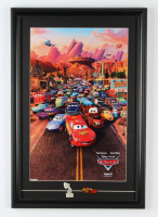 """""""Cars"""" 15x22 Custom Framed Movie Poster Display with (2) Cars Pins at PristineAuction.com"""