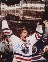 Wayne Gretzky Signed Oilers 11x14 Photo (PSA Hologram) (See Description) at PristineAuction.com