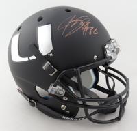 Jeremy Shockey Signed Miami Hurricanes Full-Size Helmet (JSA COA) (See Description) at PristineAuction.com
