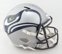 Shaquem Griffin & Shaquill Griffin Signed Seahawks Full-Size AMP Alternate Speed Helmet (JSA COA) (See Description) at PristineAuction.com
