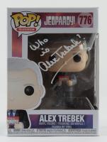 "Alex Trebek Signed ""Jeopardy"" #776 Funko Pop! Vinyl Figure Inscribed ""Who Is"" (JSA Hologram) (See Description) at PristineAuction.com"