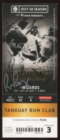 Rick Barry Signed 2017 Warriors Ticket Stub (Beckett COA) at PristineAuction.com
