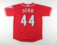 """Adam Dunn Signed Reds Jersey Inscribed """"Reds HOF '18"""" (PSA COA & TriStar Hologram) at PristineAuction.com"""