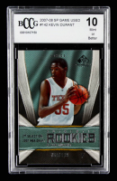 Kevin Durant 2007-08 SP Game Used #142 RC #769/999 (BCCG 10) at PristineAuction.com