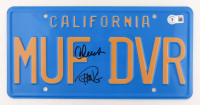 """Cheech Marin & Tommy Chong Signed """"Up in Smoke"""" 6x12 License Plate (Beckett Hologram) (See Description) at PristineAuction.com"""