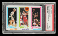 Larry Bird RC / Julius Erving TL / Magic Johnson RC 1980-81 Topps #6 (PSA 7) (ST) at PristineAuction.com