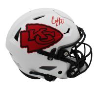 Clyde Edwards-Helaire Signed Chiefs Full-Size Lunar Eclipse Alternate SpeedFlex Helmet (Radtke COA) at PristineAuction.com