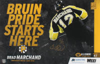Brad Marchand Signed LE Bruins 11x17 Promotional Poster (YSMS COA) at PristineAuction.com
