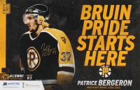 Patrice Bergeron Signed Bruins 11x17 Promotional Poster (YSMS COA) at PristineAuction.com