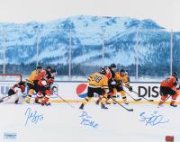 Brad Marchand, Patrice Bergeron & David Pastrnak Signed Bruins 16x20 Photo (YSMS COA) at PristineAuction.com