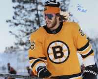 David Pastrnak Signed Bruins 16x20 Photo (YSMS Hologram) at PristineAuction.com