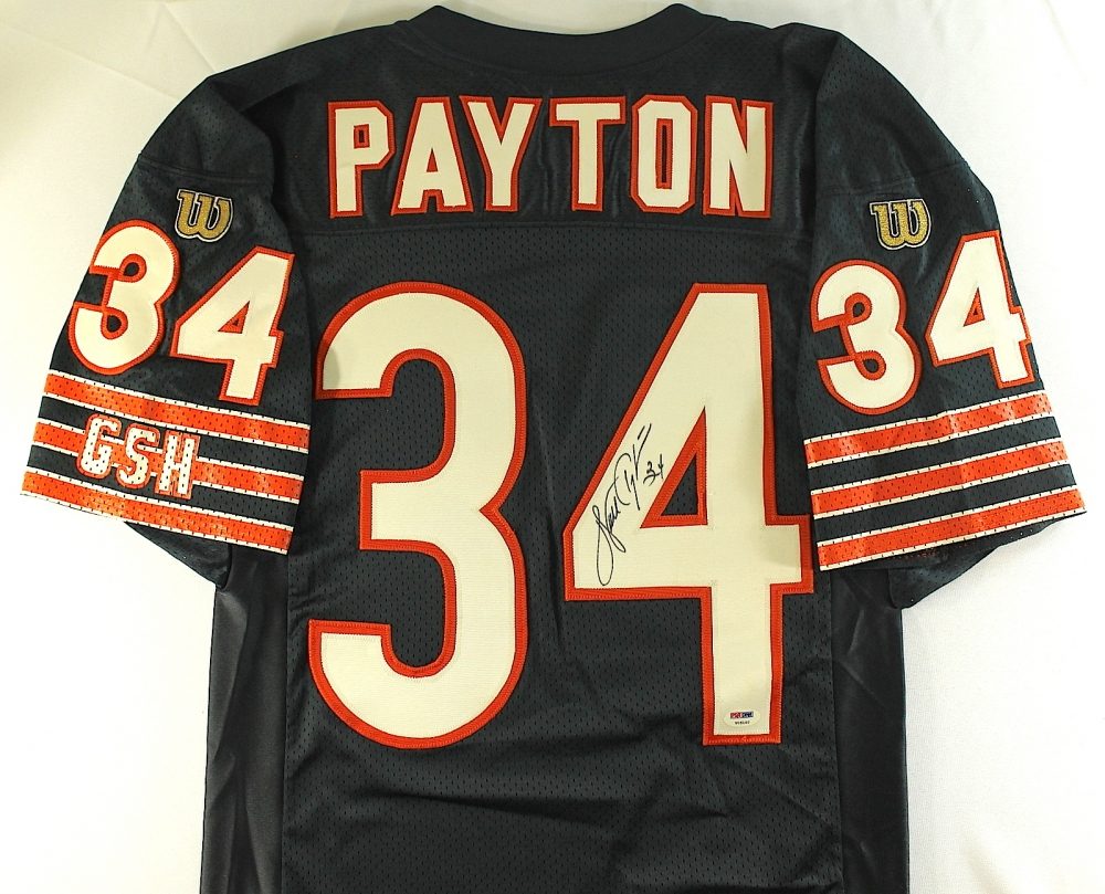 e1d2f388588 Walter Payton Signed Bears Wilson Authentic Vintage Proline Jersey (PSA  LOA) at PristineAuction.