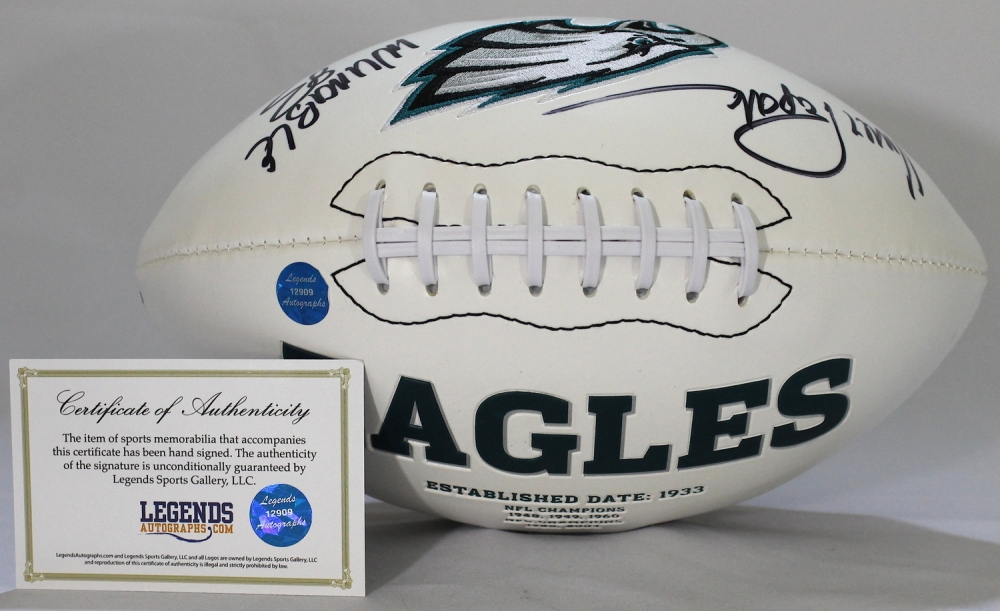 ef2a0bd24dd Vince Papale Signed Eagles Logo Football Inscribed