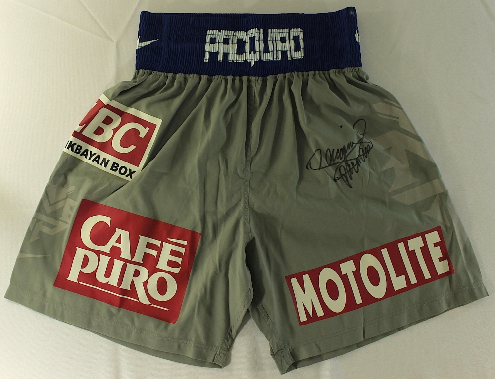Manny Pacquiao Signed Custom Nike Boxing Shorts Inscribed