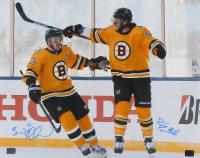David Pastrnak & Brad Marchand Signed Bruins 16x20 Photo (YSMS COA) at PristineAuction.com