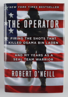 """Robert O'Neill Signed """"The Operator"""" Hardcover Book Inscribed """"Rot In Hell!"""" & """"Never Quit!"""" (JSA COA) at PristineAuction.com"""