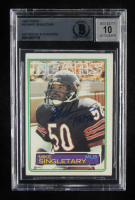 """Mike Singletary Signed 1983 Topps #38 RC Inscribed """"HOF 98"""" (BGS Encapsulated) (See Description) at PristineAuction.com"""