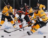 Patrice Bergeron & David Pastrnak Signed Bruins 16x20 Photo (YSMS COA) at PristineAuction.com