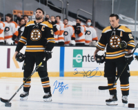 Patrice Bergeron & Brad Marchand Signed Bruins 16x20 Photo (YSMS COA) at PristineAuction.com