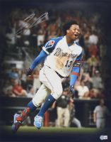 Ronald Acuna Jr. Signed Braves 16x20 Photo (Beckett Hologram) at PristineAuction.com