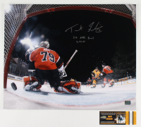 """Trent Frederic Signed Bruins 16x20 Photo Inscribed """"1st NHL Goal 2-21-21"""" (YSMS COA) at PristineAuction.com"""