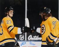 Jack Studnicka & David Pastrnak Signed Bruins 16x20 Photo (YSMS COA) at PristineAuction.com