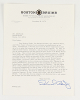 Weston Adams Jr. Signed 8.5x11 Letter and Johnny Bucyk Milestone Collection (YSMS LOA) at PristineAuction.com