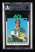 Jose Canseco 1986 Topps Traded #20T XRC (BGS Encapsulated) at PristineAuction.com