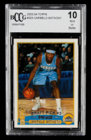 Carmelo Anthony 2003-04 Topps #223 RC (BCCG 10) at PristineAuction.com