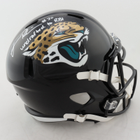 """James Robinson Signed Jaguars Full-Size Speed Helmet Inscribed """"Undrafted to RBI"""" (Beckett COA) at PristineAuction.com"""